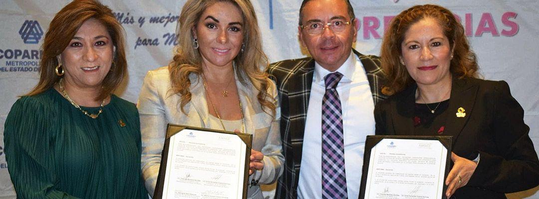 Firman convenio de colaboración Coparmex Metropolitano y la Asociación Mexicana de Mujeres Jefas de Empresa (AMMJE).