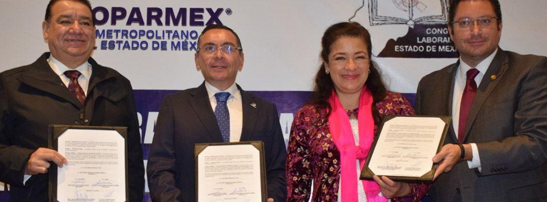 Convenio Coparmex Metropolitano, Congreso del Trabajo y Congreso Laboral Edo. Méx.