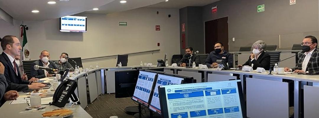Empresarios Coparmex Metropolitano y Secretaría de Seguridad del Estado de México, suman esfuerzos en el combate a la inseguridad.