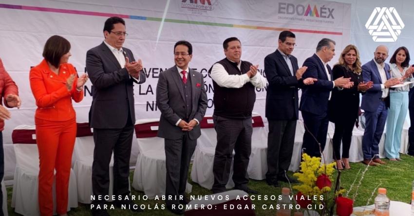 Necesario abrir nuevos accesos viales para Nicolás Romero: Edgar Castro Cid.