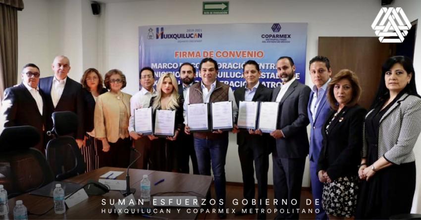 Suman esfuerzos gobierno de Huixquilucan y Coparmex Metropolitano.