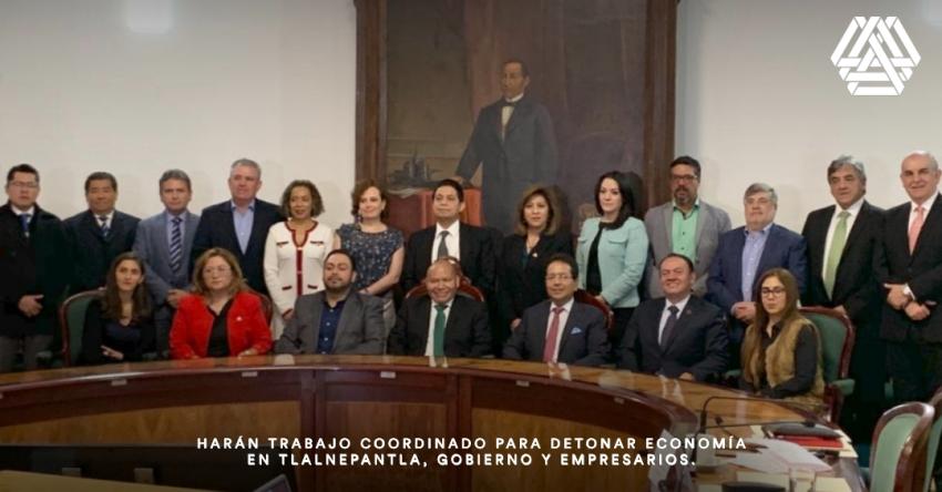 Harán trabajo coordinado para detonar economía en Tlalnepantla, gobierno y empresarios.